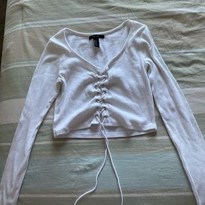 Cropped Corset tie top